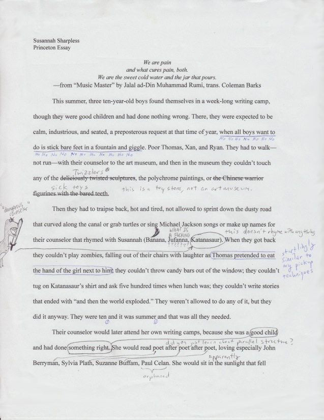 peer review        nassau weeklyandrew sondern edits susannah sharpless    s college essay