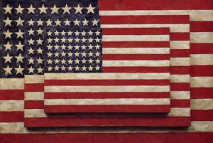 """Three Flags"", by Jasper Johns"